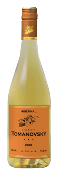 Láhev bílého vína Hibernal 2020 Vinařství Tomanovský