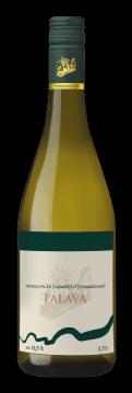 Láhev bílého vína Pálava 2018 Vinařství Tomanovský