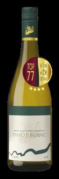 Láhev bílého vína Pinot Blanc 2015 Vinařství Tomanovský