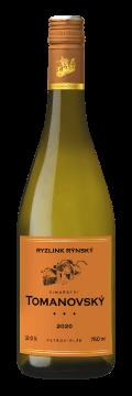 Láhev bílého vína Ryzlink rýnský 2020 Vinařství Tomanovský