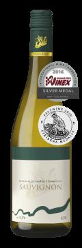 Láhev bílého vína Sauvignon 2015 Vinařství Tomanovský