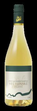 Láhev bílého vína Veltlínské Zelené 2015 Vinařství Tomanovský