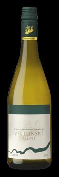 Láhev bílého vína Veltlínské Zelené 2016 Vinařství Tomanovský