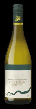 Láhev bílého vína Veltlínské Zelené 2017 Vinařství Tomanovský