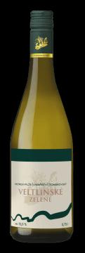 Láhev bílého vína Veltlínské zelené 2018 Vinařství Tomanovský