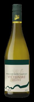 Láhev bílého vína Veltlínské zelené 2019 Vinařství Tomanovský