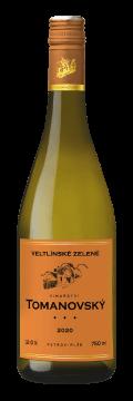 Láhev bílého vína Veltlínské zelené 2020 Vinařství Tomanovský