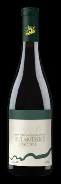 Láhev červeného vína Rulandské Modré 2015 Vinařství Tomanovský