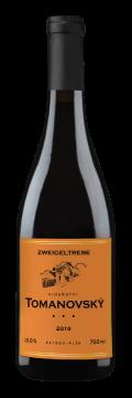 Láhev červeného vína Zweigeltrebe 2019 Vinařství Tomanovský