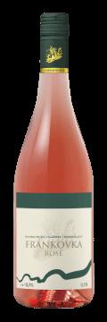 Láhev růžového vína Frankovka Rosé 2015 Vinařství Tomanovský
