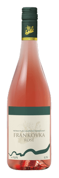 Láhev růžového vína Frankovka Rosé 2016 Vinařství Tomanovský