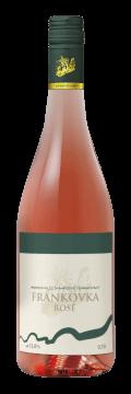 Láhev růžového vína Frankovka Rosé 2017 Vinařství Tomanovský