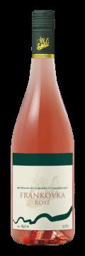 Láhev růžového vína Frankovka Rosé 2019 Vinařství Tomanovský