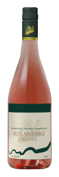 Láhev růžového vína Rulandské modré 2018 Vinařství Tomanovský