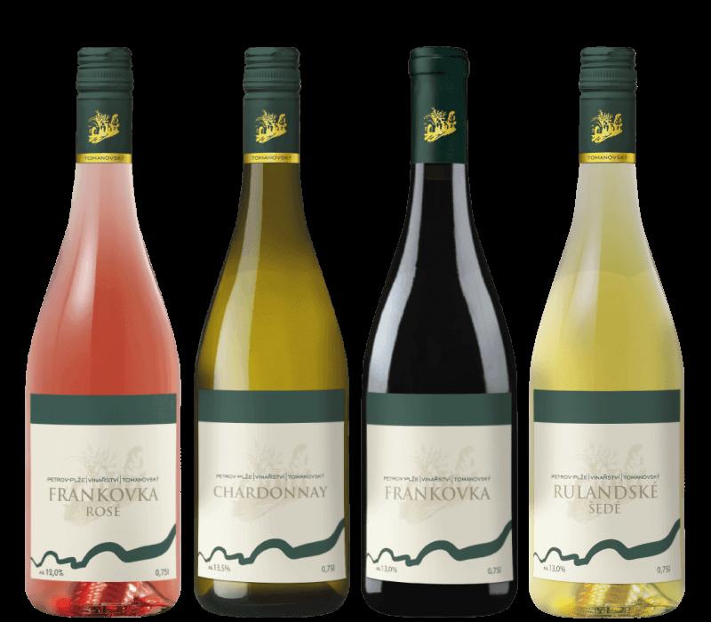 Vína z vinařství Tomanovský Petrov-Plže